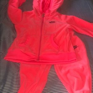 Baby Girl Velour Nike Suit